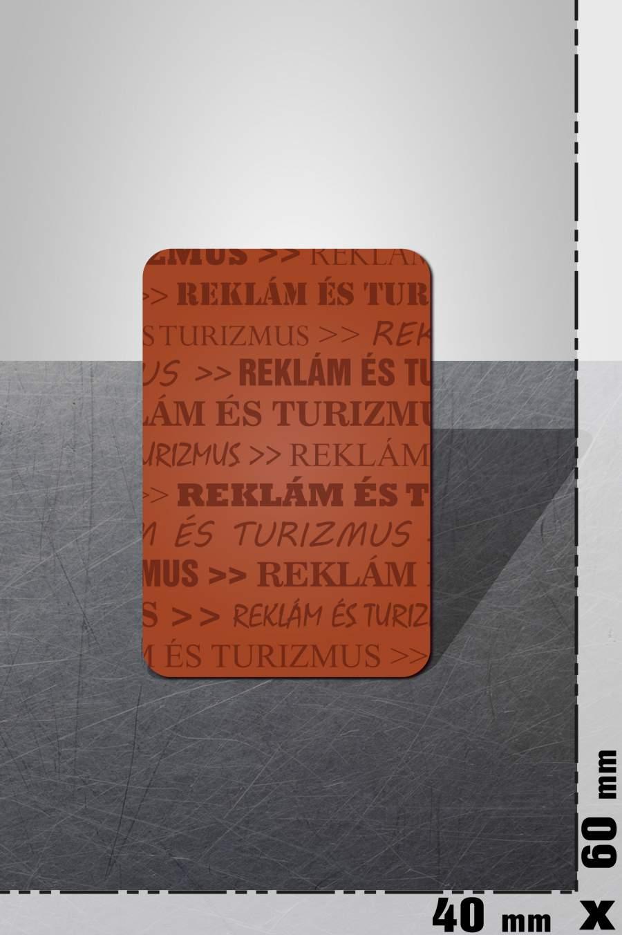 80.1. Reklám hűtőmágnes (40x60mm)
